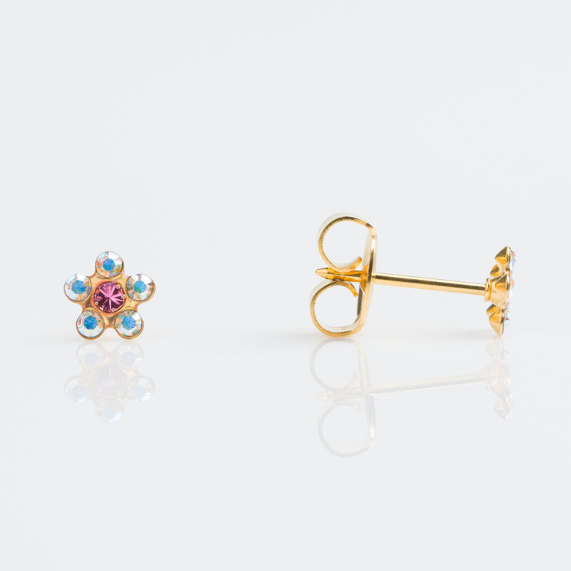 Gold Plated Daisy AB Crystal Rose