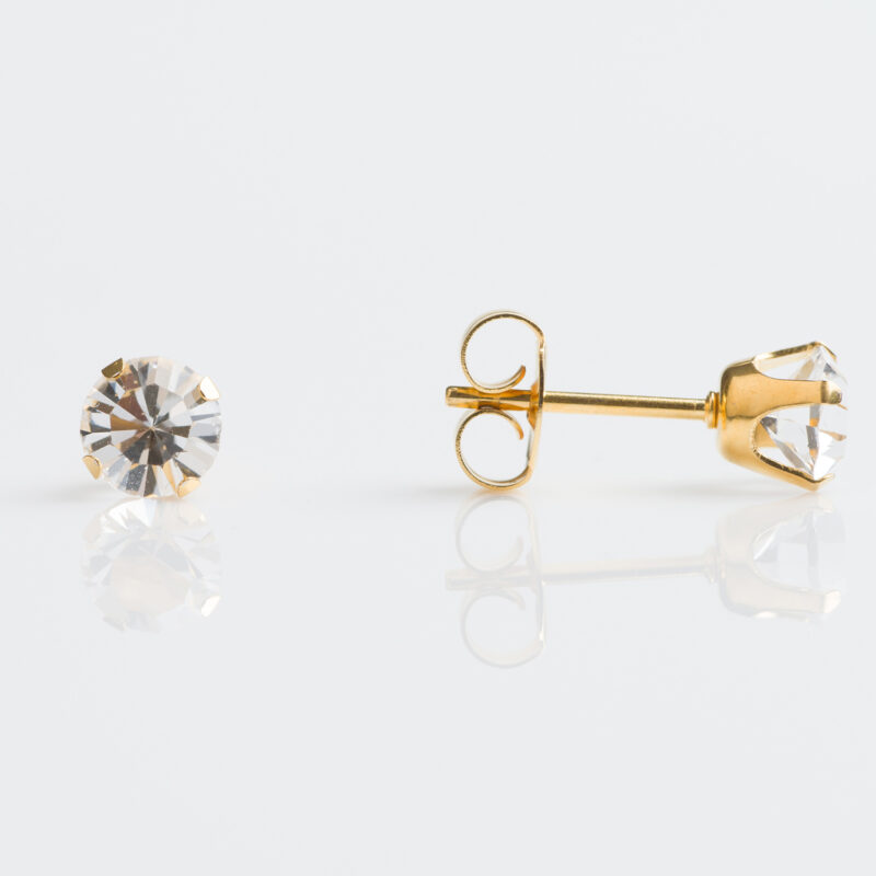 Gold Plated Tiffany 5mm – April Crystal