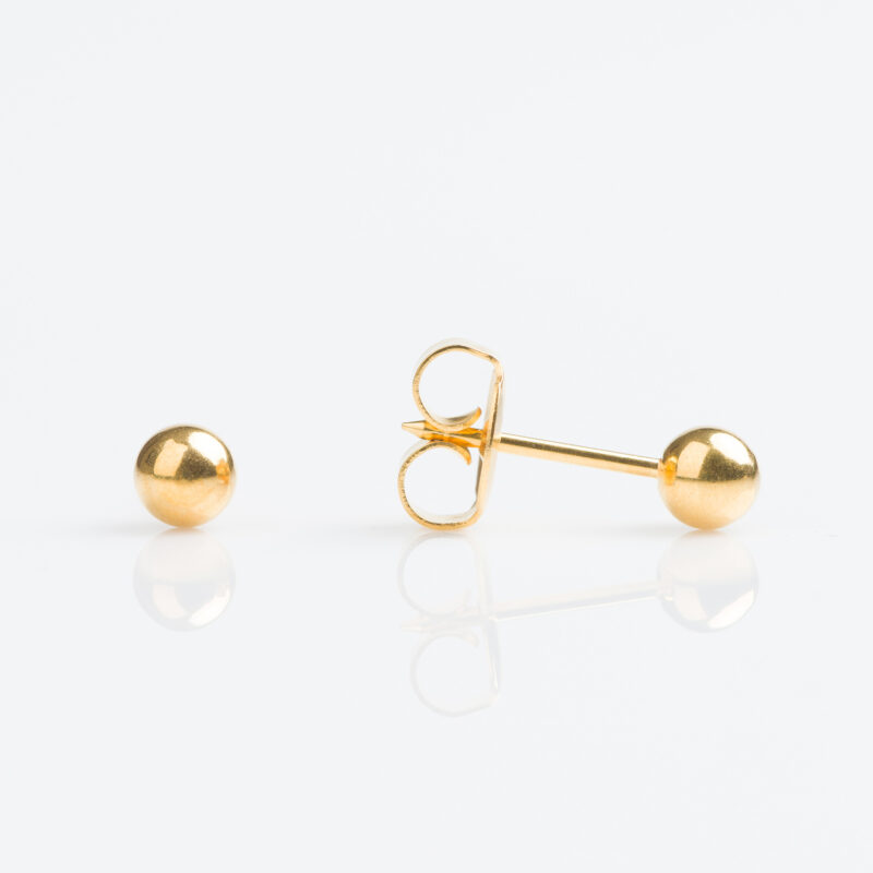Gold plated 4mm Ball