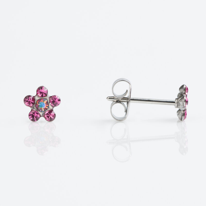 Stainless Steel Daisy Rose – AB Crystal